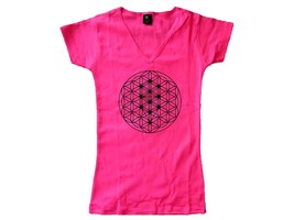 Sacred geometry Tree of life pink women graphic new t-shirt fit the body - $17.99