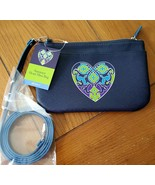 Brighton Summer Hearts Mini Bag in Blue NWT - $44.99