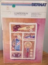 Bernat Tabrette Latch Hook Rug Kit COMPETITION Sports 22 X 34 Sealed 198... - $93.49