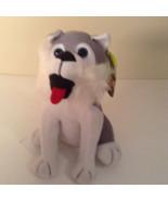 "Toy Factory Plush Husky Dog MWT 8.5"" tall Stuffed Animal Toy - $10.19"