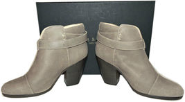 Rag & Bone HARROW Stone Buckle Boots Ankle Booties Taupe Shoes 38.5 - 8 image 5