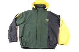 Vintage 90s Nautica Mens 2XL XXL Spell Out Reversible Color Block Jacket... - $93.01