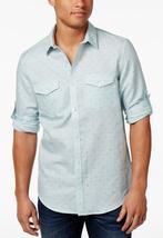Calvin Klein Men's Dash-Print Shirt , Mosaic Blue, Size M, MSRP $79 - $34.64