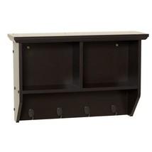 Collette 23 in. W Wall Cubby Shelf in Espresso - $72.50