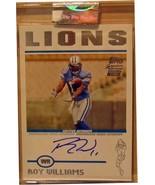 2004 Topps Signature #85 Roy Williams AU/299 RC - $25.13