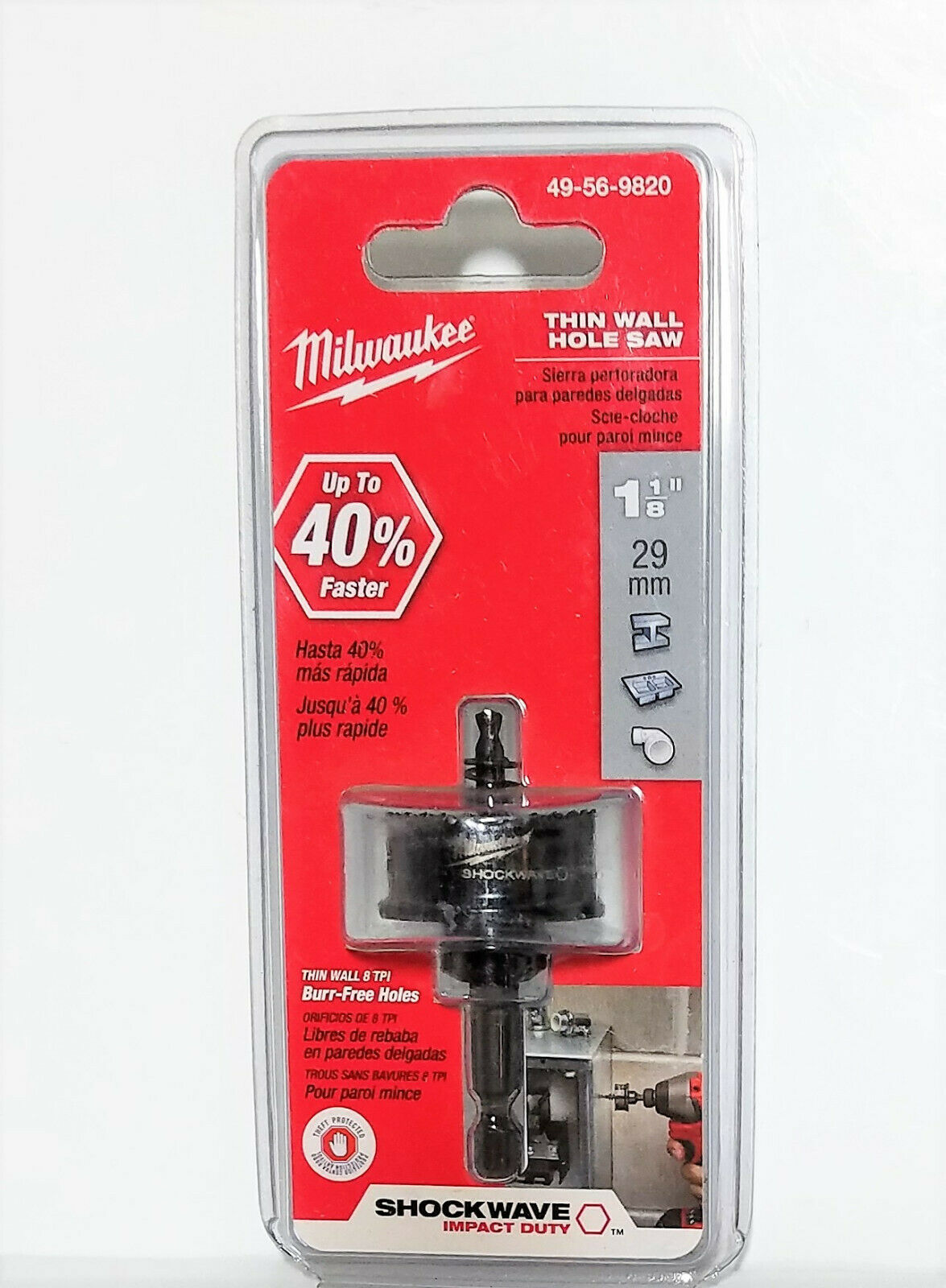 Primary image for Milwaukee 49-56-9820 1-1/8 in. Thin Wall Shockwave Hole Saw