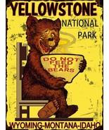 Yellowstone National Park Bear Metal Sign - $19.95
