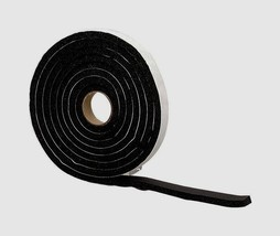 "New! 43155 M-D WEATHERSTRIPPING TAPE Black Rubber Self Adhesive 1/4"" x 1... - $10.43"