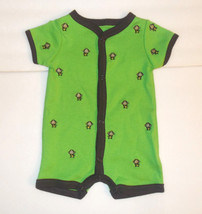 Carter's Infant Boys One Piece Bodysuit Creeper Green Monkeys Size Newborn NWT - $6.78