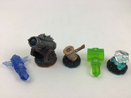 Skylanders Figure Lot Diamond Hammer Life Hammer Water Totem Crystal Cannon - $12.82
