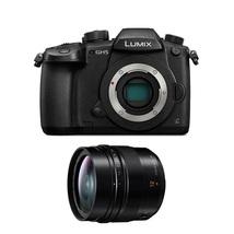 Panasonic Lumix GH5 Digital Camera Black + 12mm F1.4 Asph. Lens - $1,975.77
