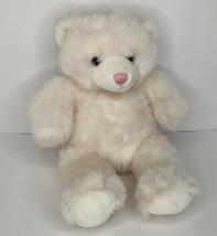 "Build A Bear White w/ Pink Highlights Bear 15"" Retired Soft Stuffed Anim... - $10.40"