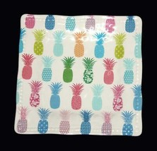 "4 Cynthia Rowley Colorful Decorated Pineapples Square 9"" Melamine Plates... - $36.99"