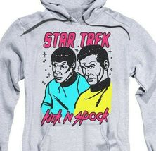 Star Trek Retro Iconic TV series Kirk and Spock animated graphic hoodie CBS1737 image 3