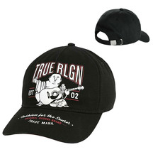 True Religion Men's Music Poster Buddha Baseball Cap Sports Strapback Hat