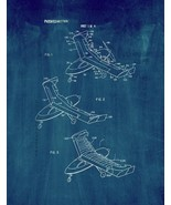 Aircraft Wing With Vortex Generation Patent Print - Midnight Blue - $7.95+