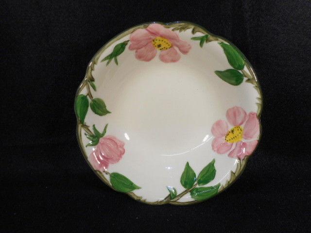 """Vintage Franciscan Dessert Rose 6"""" Cereal Soup Bowl USA"""