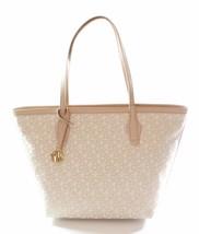 DKNY Donna Karan Heritage Canvas Beige Shopper Tote Bag Medium Handbag R... - $238.93