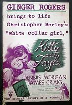 GINGER ROGERS,DENNIS MORGAN (KITTY FOYLE) ORIGINAL 1940 MOVIE PRESSBOOK - $197.99