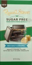 RUSSELL STOVER SUGAR FREE SEA SALT CARMEL DARK CHOCOLATE BAR 3oz - PACK ... - $31.19