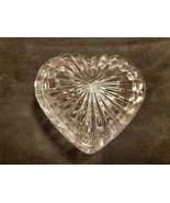 BEAUTIFUL VINTAGE CRYSTAL HEART SHAPED TRINKET BOX - $20.00