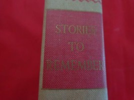 STORIES TO REMEMBER, Vol. 1, Thomas Costain, Jo... - $10.85