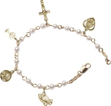 Rosary Bracelet - Gold Plated