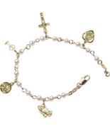 Rosary Bracelet - Gold Plated - $34.98