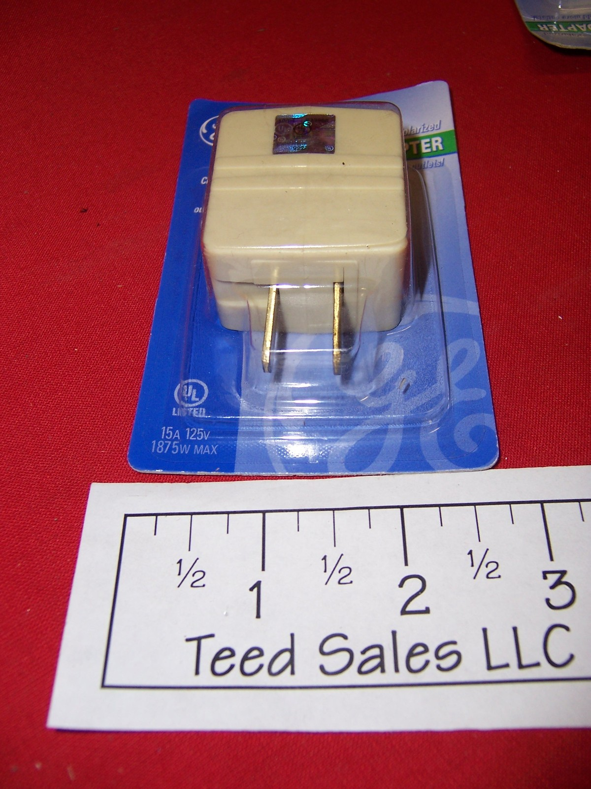 GE 3 Outlet Cube Tap Adapters Ivory 9228 Lot of 14