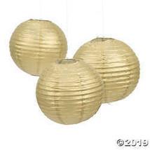 Gold Hanging Paper Lanterns - $18.11
