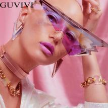 Rimless Punk Sunglasses Women Luxury Brand Sun Glasses Female Eyewear Triangle R