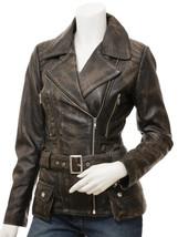 QASTAN Women's New Stylish Fashioned Vintage-Black Biker Leather Jacket ... - $149.00+
