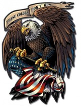 Eagle Holding Flag Plasma Cut Metal Sign - $39.95
