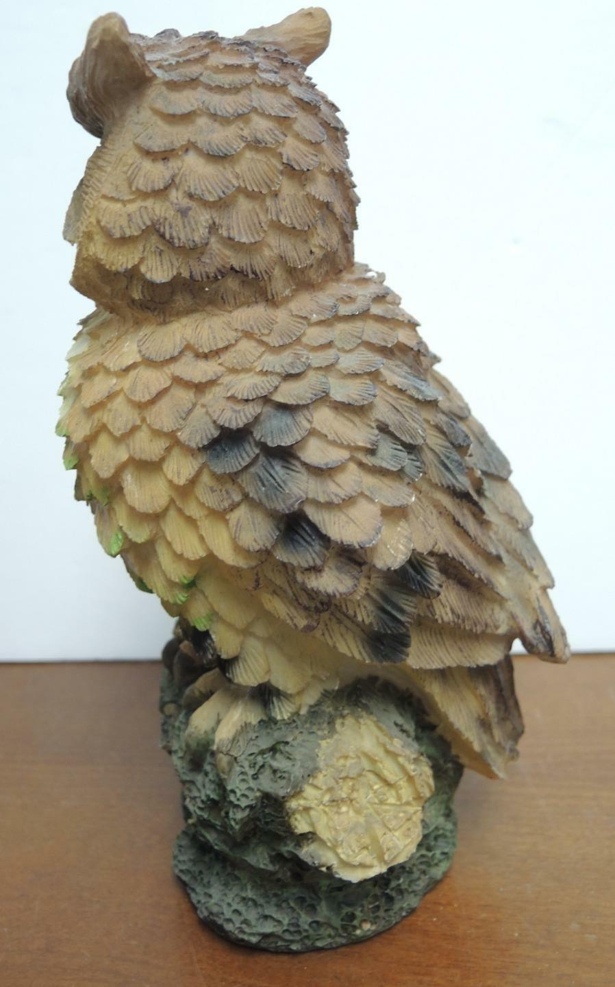 "Vintage 8 1/2"" Tall Owl With Green Eyes"