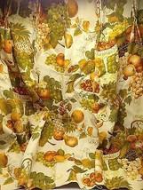 Vintage Drape Curtain pinch pleat panels Harvest gold Fruit Movie Prop G... - $35.00