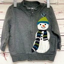 Gymboree Front Zipper Snowman Top 12-24 Mos - $15.00