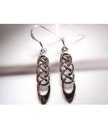 Celtic Earrings 925 Sterling Silver Dangle Corona Sun Jewelry - $12.86