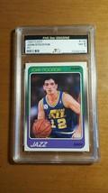 1988-89 Fleer #115 John Stockton Rookie Card Graded 5 Star Grading NM 7 - $17.33