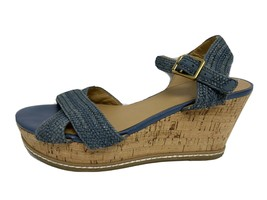Franco Sarto Cara Mujer wedge sandals Acero Hebilla Tiras Talla Ee. Uu. 8 - $17.61