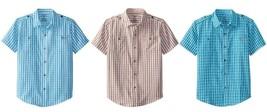 Dockers Boy's 8-18 Woven Plaid Shirt Short Sleeve Button-Down NEW