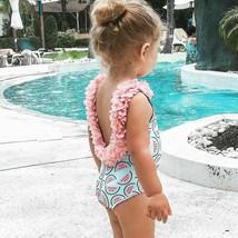 Baby Girl Watermelon Swimsuit Toddler Newborn One Piece Swimwear Flower ... - $17.85