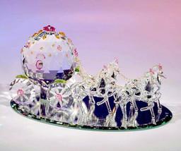Crystal World Fantasy Cinderella Coach  Figurine New In Box - $346.49