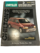 chrysler caravan voyager town country 1984-1995 Chilton's Repair 20300 8155 - $16.75
