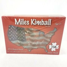 Miles Kimball United States USA Shaped Jigsaw Puzzle 750 Pcs NEW Sealed ... - $24.60