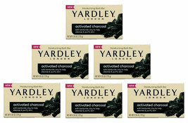 6 Bars Yardley London Activated Charcoal Bath Bar Soap 4.25 Oz Brand New Sealed - $27.71