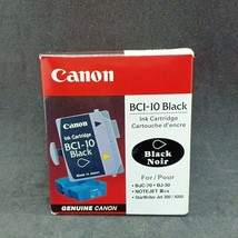 8 Genuine Canon BCI-10 Black Ink Cartridges JET 4000 BJ-30 BJC 55 70 80 85 85W - $22.23