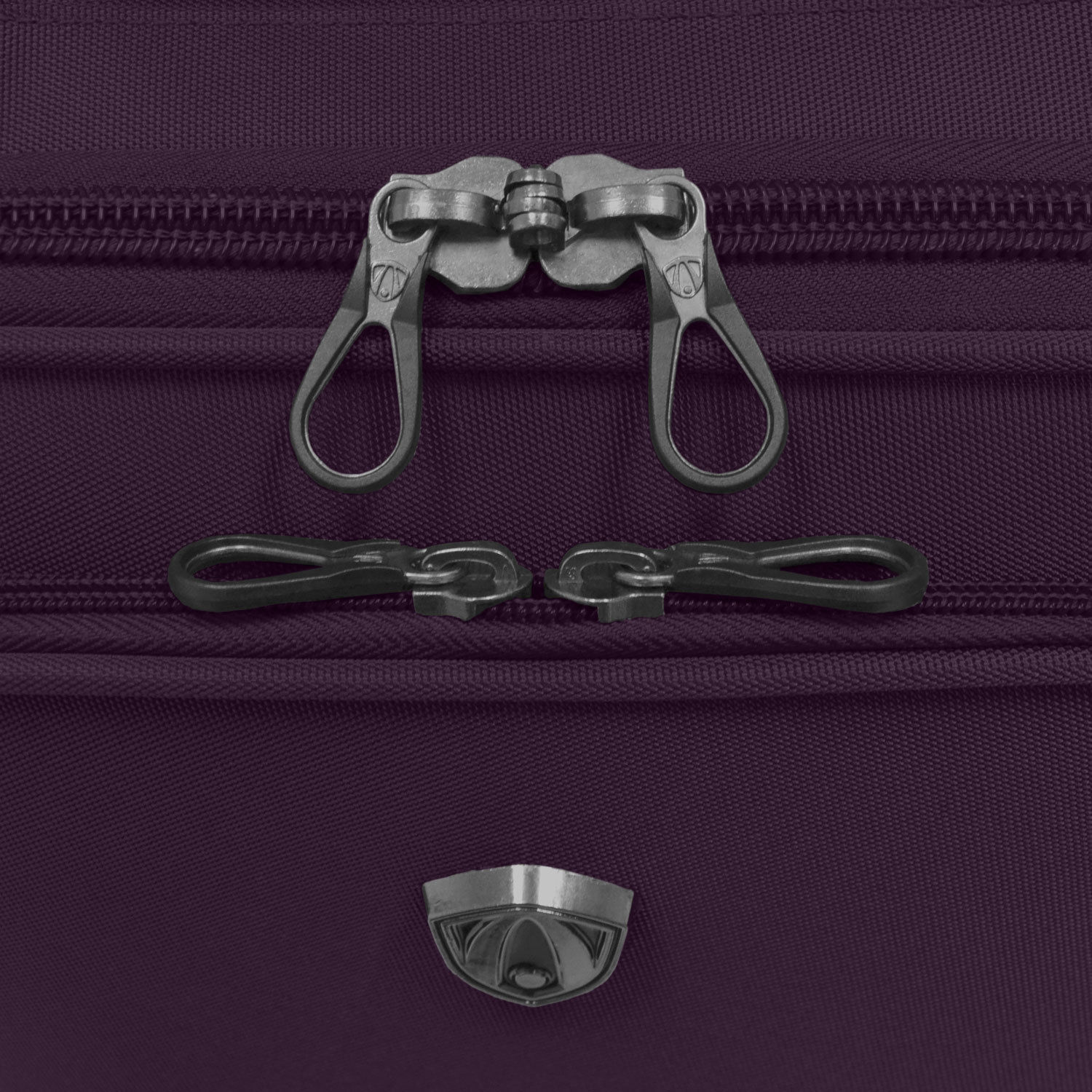 Travelers Choice Forza 3pc Purple Ultra Lightweight Spinner Luggage Suitcase Set