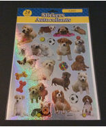 Dog Puppy Stickers 24-pc Laser Sparkle Animal Pet Puppies Dogs NEW - $4.49
