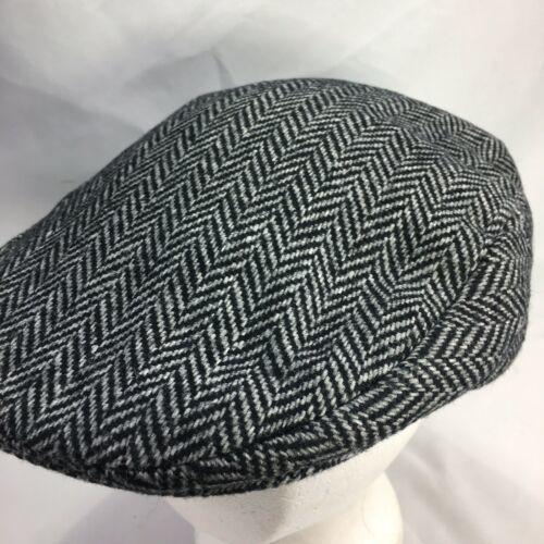 DORMAN PACIFIC DPC Gatsby Newsboy Cabbie Hat Cap Herringbone Wool Blend Medium image 7