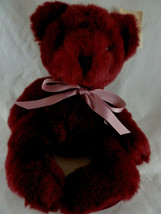 Vintage Russ Berrie Rhapsody Teddy Bears From The Past Plush Burgundy 13... - $15.83